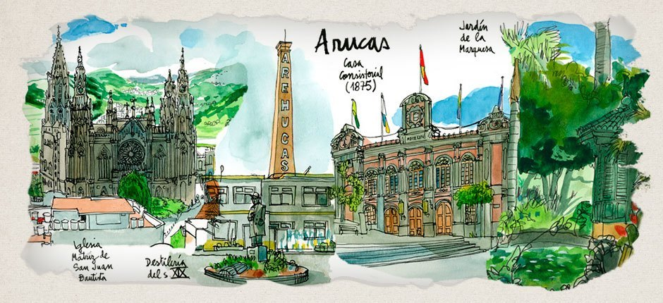 Arucas old town. Gran Canaria old towns